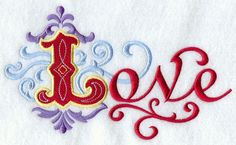 Love  Embroidered Linen Kitchen Guest Towel by EmbroideredbySue, $14.99