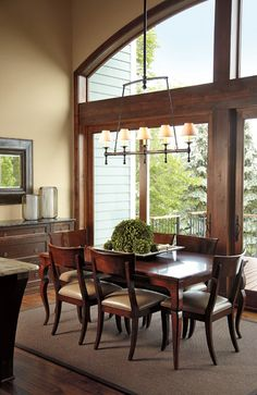 Marvin Windows and Doors Photo Gallery - Ultimate Sliding French Door.  Custom casement over the door, too.