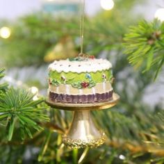 Buy Christmas Cake Decoration in Green from lisaangel.co.uk :: Lisa Angel Jewellery and Gifts
