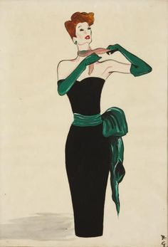 René Gruau 1909 - 2004 Gruau's fluid line, bold use of colour, composition and psychology make his work stand out. He is undoubtedly the best fashion artist of the mid 20th century; he was without peers