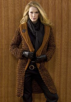 Free crochet coat pattern. I like this one. I just might have to make this one before next winter.