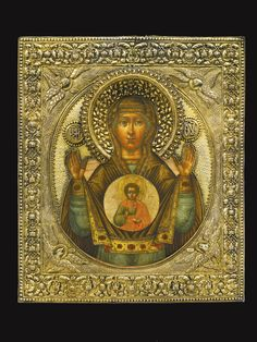 Lady of the Sign, circle of the Kremlin Armoury School, Povolzhe, early century Russian Icons, Russian Art, Religious Images, Religious Icons, Images Of Mary, Cypress Wood, Byzantine Icons, Hail Mary, Madonna And Child