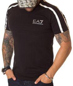 Armani Tricou Emporio 7 - Negru   Tricouri cu guler rotund   Tricouri   Brande Giorgio Armani, Mens Tops, T Shirt, Fashion, Supreme T Shirt, Moda, Tee Shirt, Fashion Styles, Fashion Illustrations