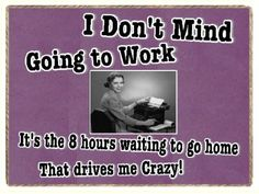 Amazon.com: Funny Retro Purple Crazy Going to Work Office Refrigerator Gift Magnet: Home & Kitchen