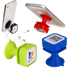 PL-1227 Easy-Wrap Phone Stand/Cord Winder. ABS plastic stand with silicone suction cup and cord winder. Attach suction cup to back of phone. Wrap cords around specially designed base to prevent tangles.