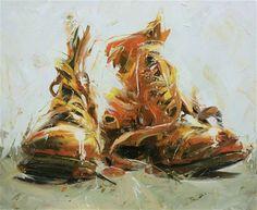 paul wright - boots love the brush strokes Paul Wright, William Nicholson, Modern Art, Contemporary Art, Illustration Art, Illustrations, A Level Art, Impressionist Art, Painting Still Life