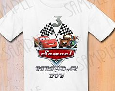 Camiseta Disney coches DIY Custom hierro en por Fantasyprintables