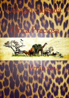 Capa da coleção África Preciosa do projeto acadêmico.