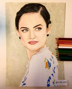 18 mentions J'aime, 5 commentaires - @linte.art sur Instagram: «Prismacolor of Lucy Hale Loved drawing the eyes and the hair, so much details Comment on what you…» Lucy Hale, Prismacolor, Eyes, Detail, Drawings, Instagram Posts, Hair, Whoville Hair, Drawing