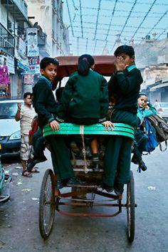 Delhi, School rickshaw