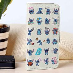 Stitch Emoticon | Disney | Lilo And Stitch | custom wallet case for iphone 4/4s 5 5s 5c 6 6plus case and samsung galaxy s3 s4 s5 s6 case - RSBLVD