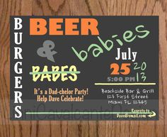 Beer and diapers: 17 man shower invitations | #BabyCenterBlog
