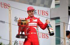 Round 3, UBS Chinese Grand Prix 2013, Podium, Race Winner, Fernando Alonso, Driver, Scuderia Ferrari