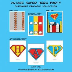 GIVEAWAY: Vintage Super Hero Party Package from Anders Ruff Custom Designs | Catch My Party