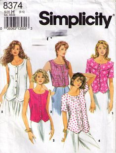 Simplicity Sewing Patterns, Vintage Sewing Patterns, Sewing Ideas, Sewing Projects, Diy Clothing, Clothing Patterns, Vintage Clothing, Vintage Outfits, Vintage Fashion