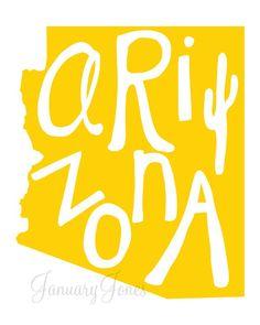 ARIZONA- the CA project art print poster wall decor. $12.00, via Etsy.
