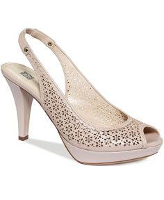 Need nude bridesmaid shoes!  Anne Klein Shoes, Restup Platform Pumps - Pumps - Shoes - Macy's