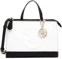 9fffb822bc Guess Korry Status Satchel Purse Bag Black and White $110.00 NWT - Free  Shipping… Black