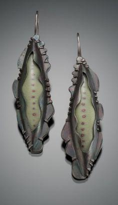 Beth Novack, enamel earrings