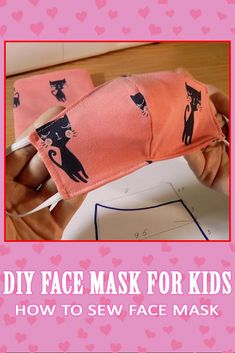 DIY Face Mask for Kids - mask making Face Masks For Kids, Easy Face Masks, Diy Face Mask, Homemade Face Masks, Sewing Patterns Free, Sewing Tutorials, Sewing Projects, Free Pattern, Pocket Pattern
