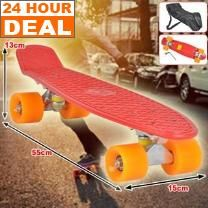 55cm Red Urban X Skateboard Streetboard - Carrying Bag - Smooth Rolling Wheels - Holds 80kg