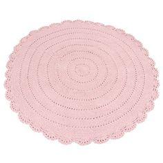 Kidsdepot vloerkleed Roundy roze 110cm. Verkrijgbaar in diverse hippe kleuren. Nu met gratis letter slinger t.w.v. €12.95!