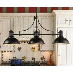 Love this...but is it too wide for the area? Shades of Light: Period Pendant Island Chandelier - 3 Lt $569.