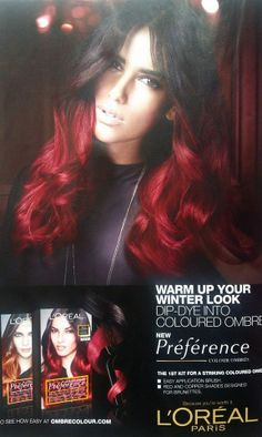Now you can warm up your hair color with L'oreal Paris Ombre hair kit. This two tone look gives you  multi-dimension flavor!