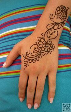 28. #минималистский - 35 невероятное хна тату #дизайн вдохновения... → #Beauty