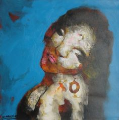 In this painting, Mr. Mahdi depicts the image of a woman who displays a hidden beauty which is only visible after absorbing the piece in its entirety. Mahdi believes women are the backbone of society and are responsible for many of the joys in his life, and if they are removed from it, life would have little meaning. $275. http://www.artsumo.com/Iraq/Reflections-on-a-troubled-time