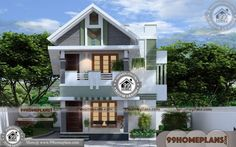 30 X 35 House Plan Ideas | 90+ New Double Story House Plans, Designs Two Storey House Plans, 2 Storey House Design, Duplex House Design, House Front Design, Small House Design, Plan Duplex, Duplex House Plans, New House Plans, Modern House Plans