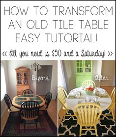 How to Transform an Old Tile Table Tutorial