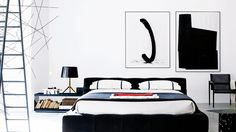 """Why You Need Black and White Abstract Art  Check out my black and white painting """"Bow Tie"""" in this feature......in Shop the Look!"""