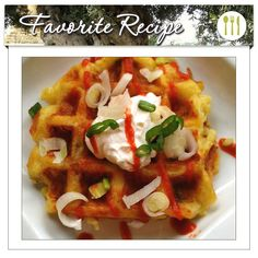 """Potatos in your waffle maker? You bet! This recipe might be quirky, but it's quick and oh-so-tasty: Savory Cheddar-Mashed Potato """"Latke"""" Waffles with Garlic Olive Oil. Cheese, potatoes, and Garlic Infused Olive Oil are the cornerstones of this dish. Excellent for a quirky lunch or snacks to really impress the kids. Try it out and share your results!"""