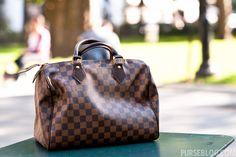 Louis Vuitton Damier Ebene Speedy 30cm- only I'd like it in the Bandouliere & azur instead of ebene.
