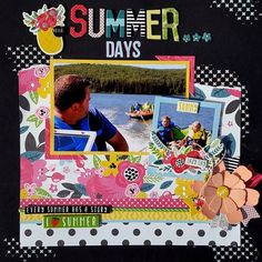 Summer has exploded at #urbanscrapbook Check out our July Page Kit Challenge! #scrapbooking #scrapbookkit #echoparkpaper