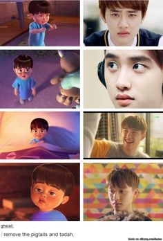 Twins | allkpop Meme Center #DO looks so cute :3 #EXO