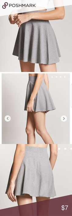 Knit Circle Skater Skirt Gray M Available pre-loved in size medium, no holes, no tears, no stains. Pictures included are directly from Forever 21 website as well as actual pictures of the item you will receive. Skirts Circle & Skater