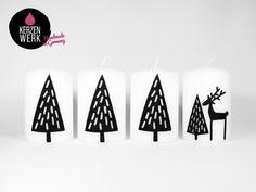 Adventskranz - Adventskerzen Kerzen Adventskranz - ein Designerstück von Bastelsepp bei DaWanda