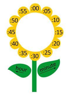 Preschool Charts, Preschool Activities, Montessori Math, Reward System For Kids, Clock Labels, Clock Flower, Butterfly Wall Decals, Clock For Kids, Kids Background