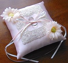 Ring pillow decorated with Margaret