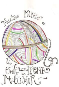 Nuestro Mundo es un Gran Ovillo de Lana Multicolor