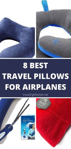 You can easily travel in comfort on an airplane when you choose the right travel pillow for your needs. Not sure what you need? We've done the research and comparisons for you, and found 8 amazing options. Find the perfect travel pillow for your neck and budget from this list! Best Travel Gadgets, Best Travel Bags, Best Places To Travel, Travel Gifts, Best Pillows To Buy, Old Luggage, Travel Route, Airplane Travel, Travel Inspiration