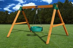 Gorilla Playsets Cedar Free Standing Tire Swing - The Home Depot Tire Swings, Wooden Swings, Gorilla Swing Sets, Wood Swing Sets, Swing Set Accessories, Backyard For Kids, Backyard Ideas, Kids Yard, Outdoor Ideas
