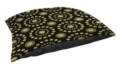 Thumbprintz Fleece Top Large Breed Pet Bed, Tropical Breeze Pattern 25-Burst, Black *** See this awesome image  : Beds for Cats