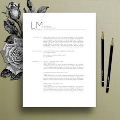 Modern Resume Template, CV Template, Cover Letter, References, MS Word Mac PC, Professional Resume Template, Instant Digital Download, Laura