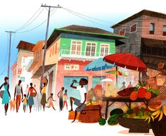 Jamey Christoph. Freetown, Sierra Leone - Market Scene
