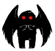 Mothman is a cutie Myths & Monsters, Legends And Myths, Mothman, Cryptozoology, Urban Legends, Creature Design, Supernatural, Beast, Art Drawings