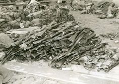 Rifles of U.S. Marines killed in the Battle of Iwo Jima.
