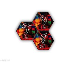 Paintings & Posters SAF Set of 3 Hexagon Ganesha High quality MDF Board UV Textured Painting  Material: Wooden Pack: Pack of 3 Product Length: 17 Inch Product Breadth: 17 Inch Product Height: 1 Inch Country of Origin: India Sizes Available: Free Size   Catalog Rating: ★4.1 (450)  Catalog Name: Navratri Multicolor Fabulous Paintings CatalogID_1206131 C127-SC1611 Code: 781-7488337-891